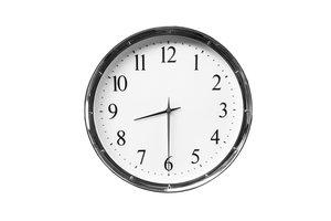 half past eight