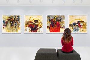 la exposición de arte