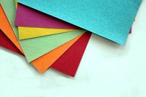 la cartulina fina de colores