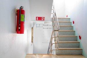la escalera de incendios