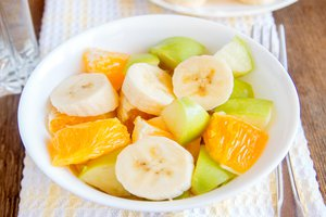the fruit salad is tasty with potatoes or with bananas
