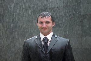 to get wet