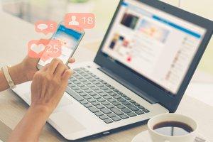 social media on the Internet