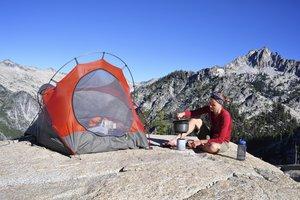 la acampada