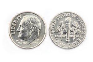 la moneda de diez centavos