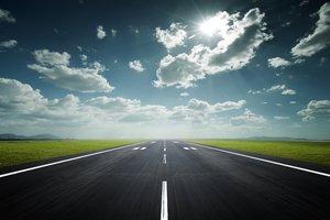 la pista de aterrizaje