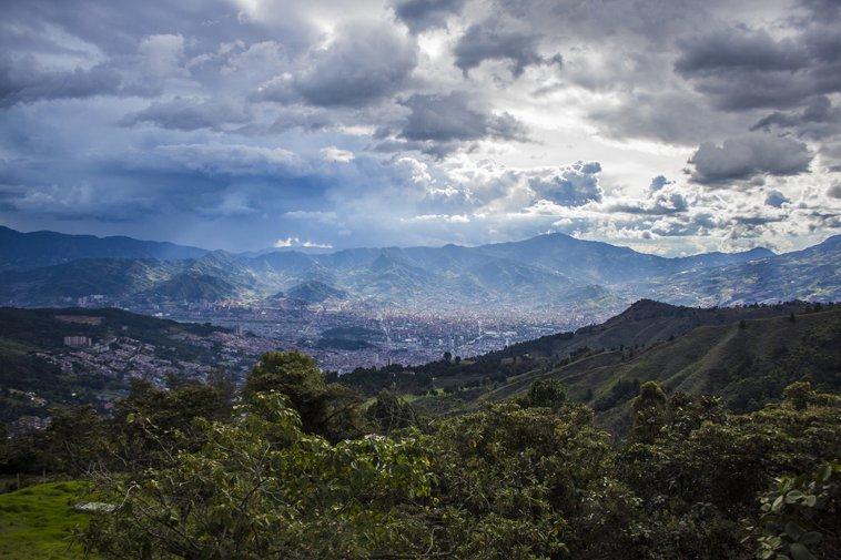 Medellín skyline in Colombia