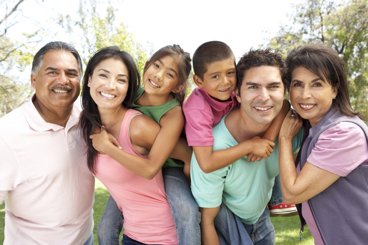 multigenerational latino family