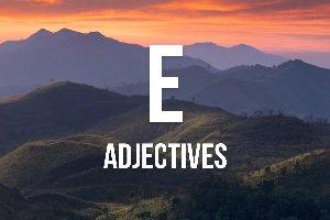 """Adjetivos con """"e"""""""