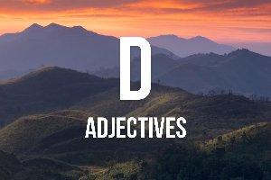 """""""D"""" Adjectives"""
