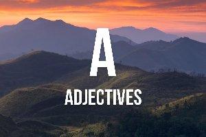 """Adjetivos con """"a"""""""
