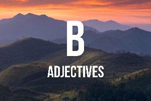 """Adjetivos con """"b"""""""