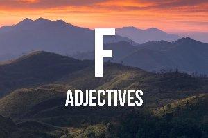 """Adjetivos con """"f"""""""