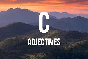 """Adjetivos con """"c"""""""