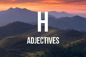 """Adjetivos con """"h"""""""